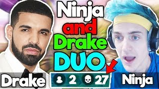 NINJA FINALLY DUO WITH DRAKE LIVE! (Full Stream Fortnite Highlights)