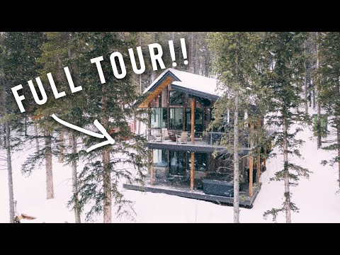 my LUXURIOUS HOME IN THE SNOWY MOUNTAINS FULL AIRBNB TOUR! | (incredible scenery)