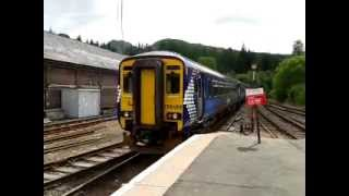 Crianlarich 24.6.2013 - Scotrail Class 156 DMU Mallaig to Glasgow
