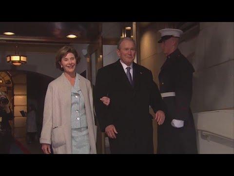 43rd President George Bush arrives at Donald Trump