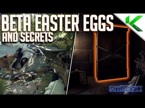 STAR WARS BATTLEFRONT 2 BETA EASTER EGGS & SECRETS! - Star Wars Battlefront 2