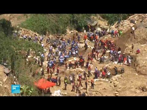 بحث مضنٍ في الفيليبين عن ضحايا انهيار أرضي جراء الإعصار  - نشر قبل 20 دقيقة