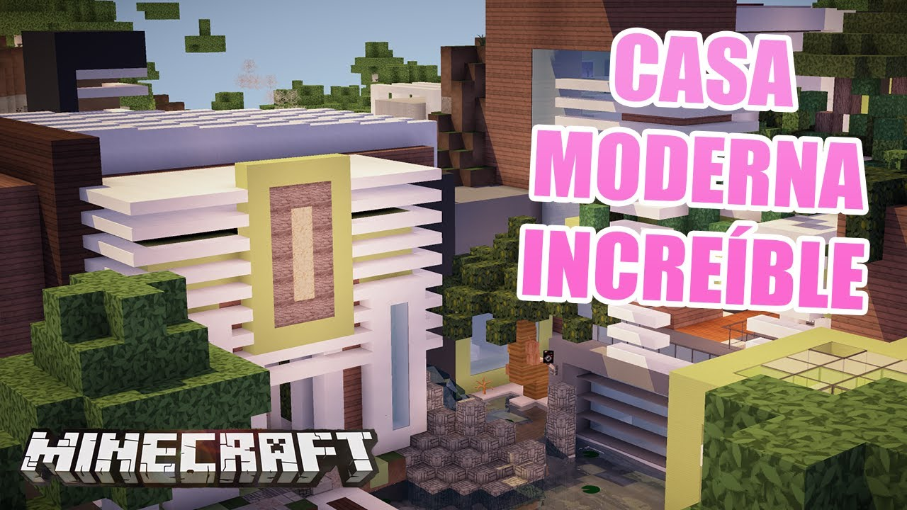 Minecraft la casa moderna incre ble casas de for Casa moderna total white