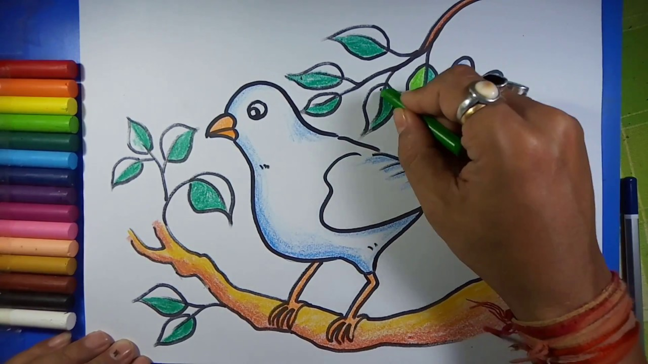 Easy Simple Bird Drawing Youtube