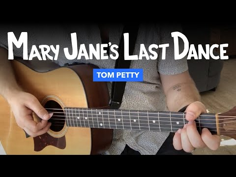 """🎸 """"Mary Jane's Last Dance"""" guitar lesson w/ chords (Tom Petty)"""