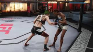 Lilly destroys Pauline's stomach (UFC 2: Ryona Edition)