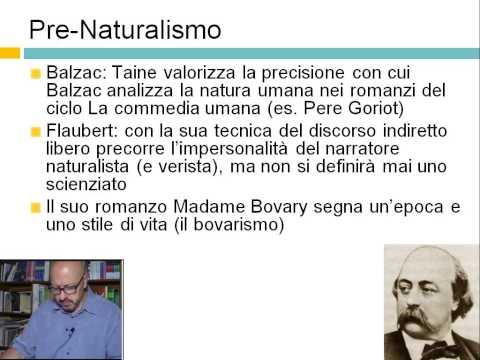 Letteratura italiana dell'800 - Positivismo e Precursori del Naturalismo