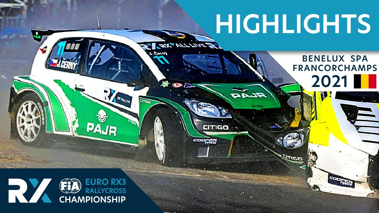 Euro RX3 Semi + Final Highlights : Benelux World RX of Spa Francorchamps 2021 : Belgium Rallycross
