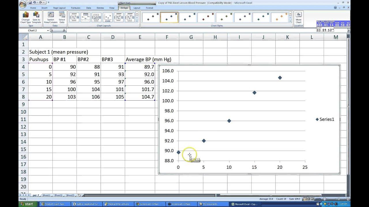 Microsoft Excel: Plotting Multiple Data Series In Excel