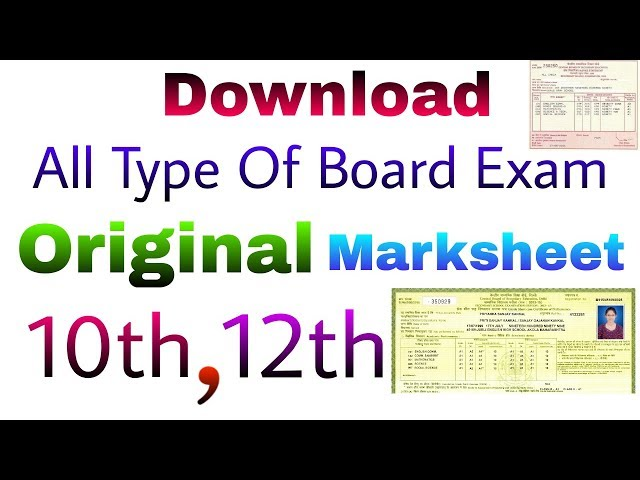 How to download your 10th 12th original marksheet CLC
