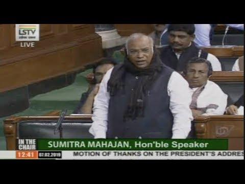 Budget Session 2019: Mallkarjun Kharge Speech on the Motion of Thanks on the President's address
