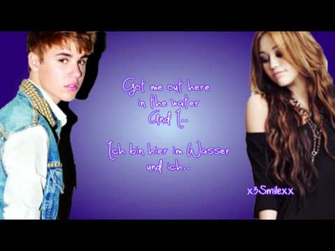 Overboard - Justin Bieber Ft. Miley Cyrus (Lyrics + Deutsche Übersetzung)