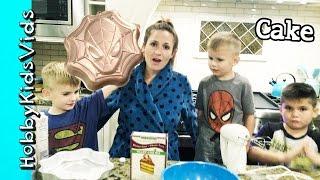 We Bake a Spiderman Cake! Gluten Free Baking Recipe Dairy Free Family Fun HobbyKidsVids
