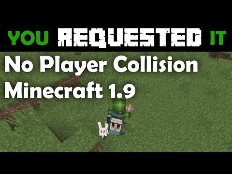 You Requested It - Switching Player Collision Off in Minecraft 1.9 Vanilla