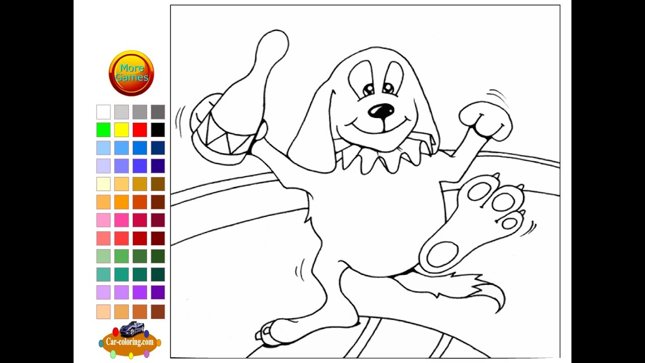 circus dog coloring pages for kids circus dog coloring pages