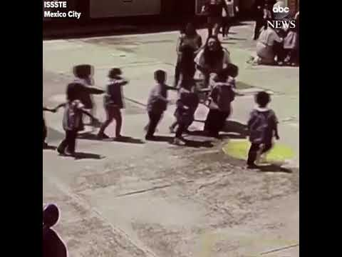 NEW VIDEO- Showing Kids Being Evacuated From The Mexico City Earthquake in September 2017