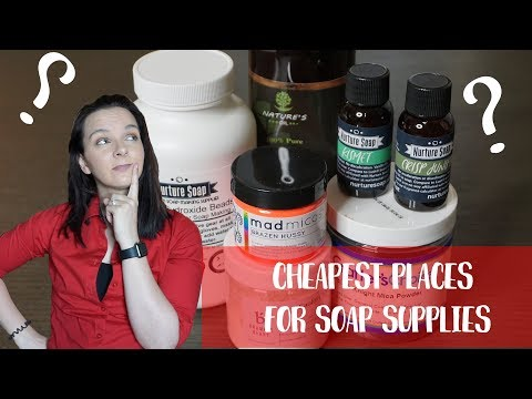 Cheapest Places For Soap Supplies