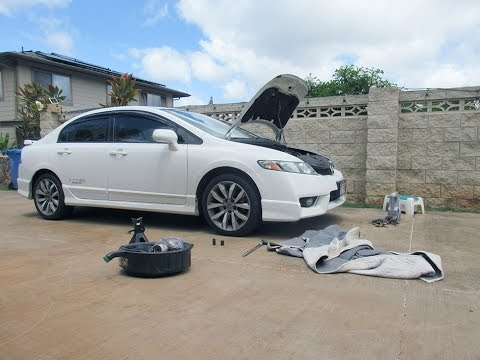 How To Change Oil On A 2011 Honda Civic Si 09 11 8th Gen Civic