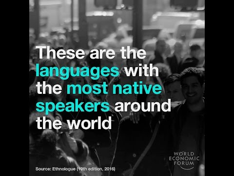 These are the languages with the most native speakers around the world