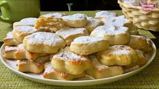 Простой рецепт вкусного творожного печенья.