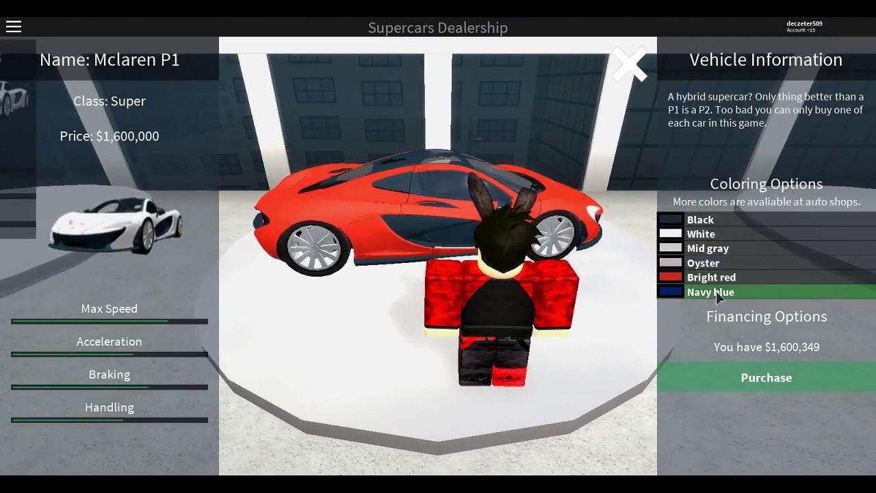 Car Simulator Games >> Roblox - Vehicle Simulator Buying McLaren P1 - YouTube
