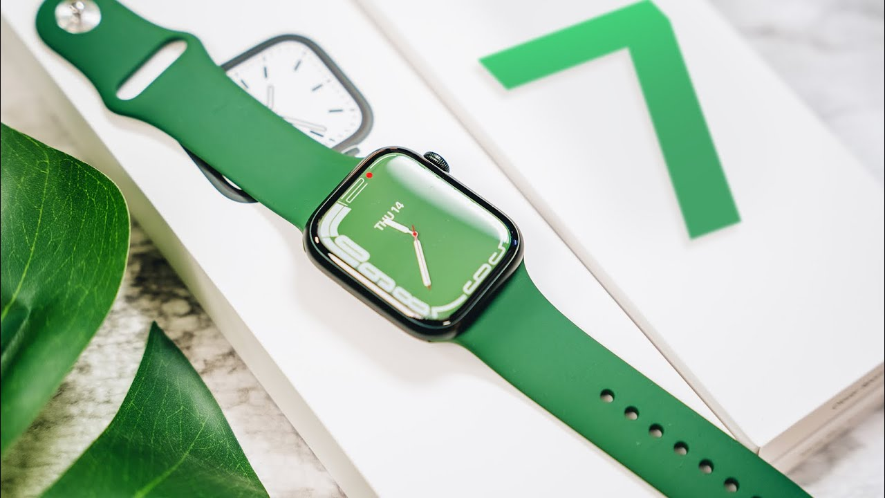 Apple Watch Series 7 Unboxing + Setup & First Impressions (Green Aluminum)