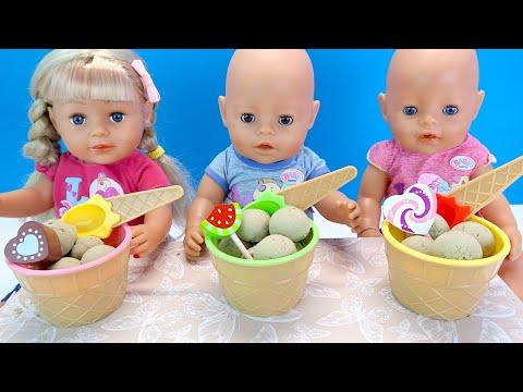 #Куклы Кушают Домашний Пломбир Учатся Считать Мультики Как Мама Кормила Беби Бон 108мама тв