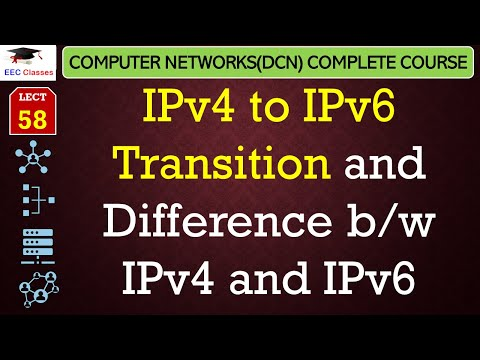 IPv4 to IPv6 Transition and Difference b/w IPv4 and IPv6(Hindi, English)