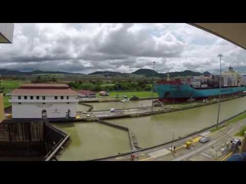Time lapse of Panama Canal at the Miraflores Locks