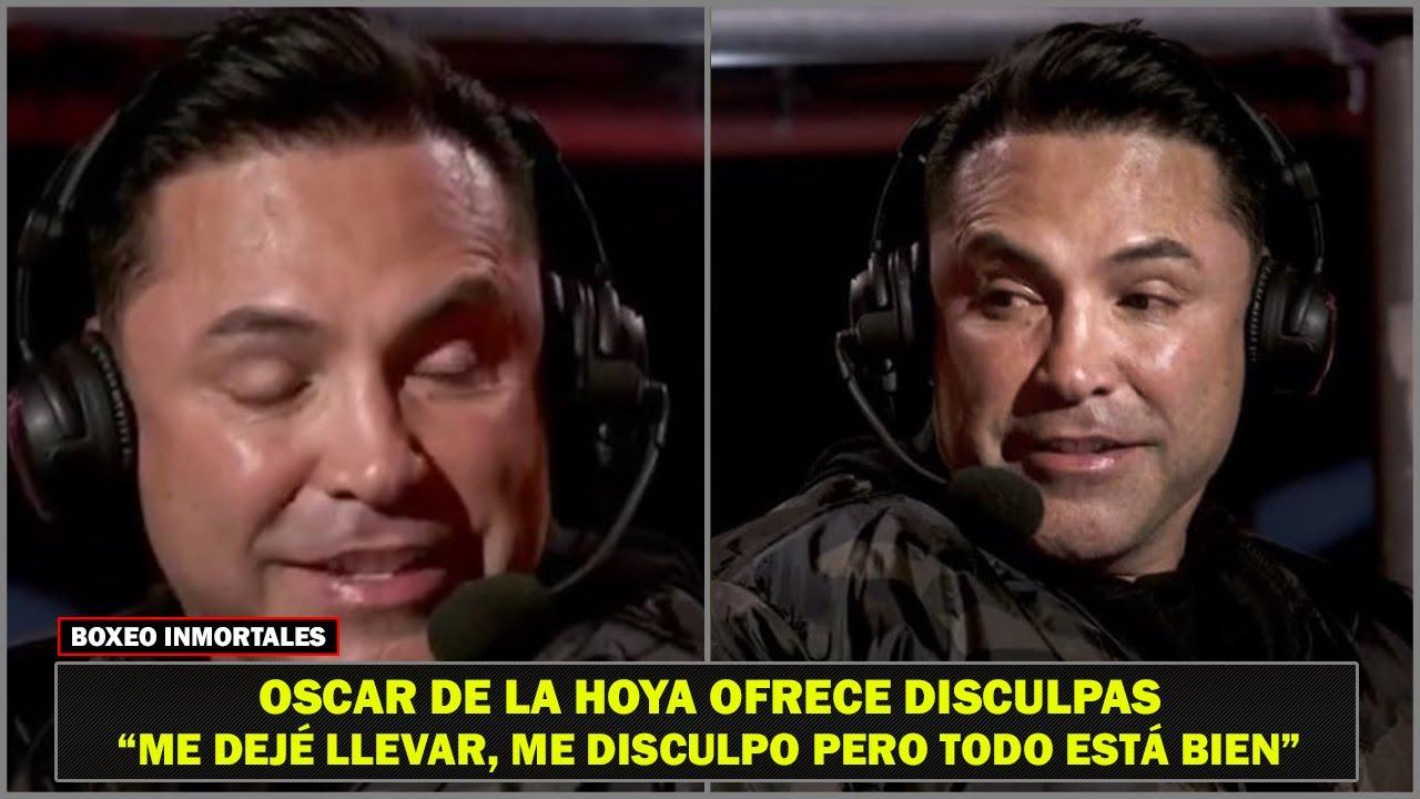Oscar de la Hoya acepta que estaba en malas condiciones y pide disculpas