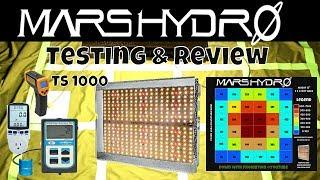 Mars Hydro TS 1000 PAR Testing & LED Grow Light Review