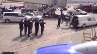 Soldier brought home - Southwest Flight 441 - 10/23/2012
