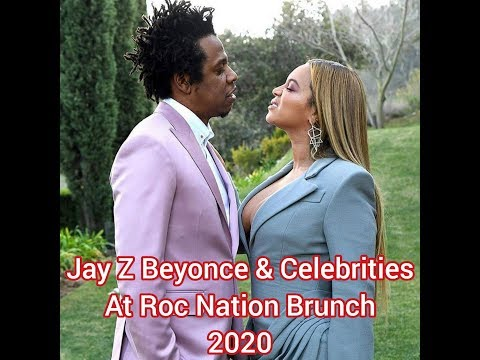 *Video & Pics* Jay Z Beyonce & Celebrities At RocNation Brunch 2020