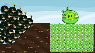 Angry Birds - 9999+ SHOCK WAVE BIRDS HIT 100 PIGGIES FAMILY!