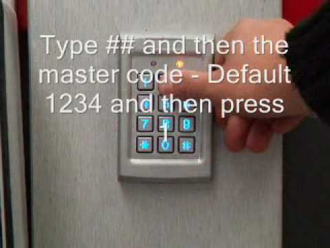 Reset Access Control Keypad Program Password Yk568l Doovi