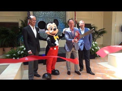 Mickey Mouse Helps Cut Ribbon at Four Seasons Resort Orlando at Walt Disney World Resort Opening