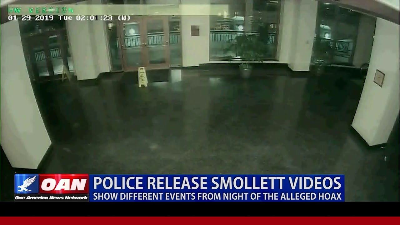 Police release Smollett videos, show different events from