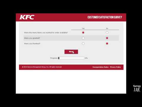 KFC Survey to Win $1000
