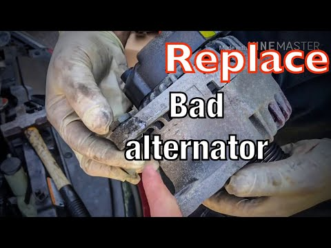 Hyundai Elantra 2011 How To Replace an  Alternator