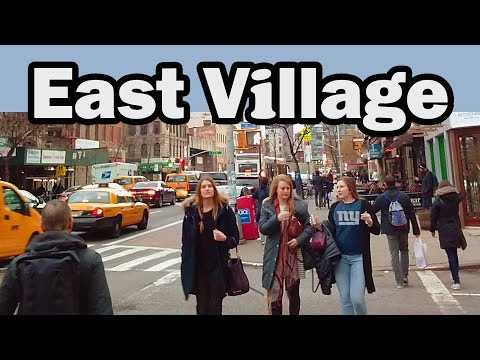 A Walk in The East Village, New York City