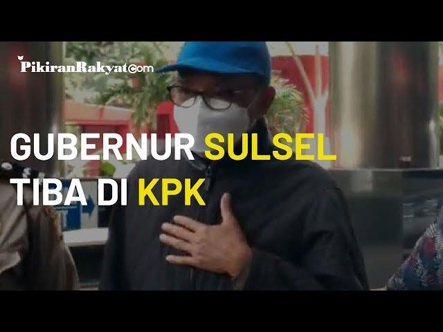 Saat Tiba di Gedung Merah Putih KPK, Gubernur Sulawesi Selatan Nurdin Abdullah Menepuk Dada
