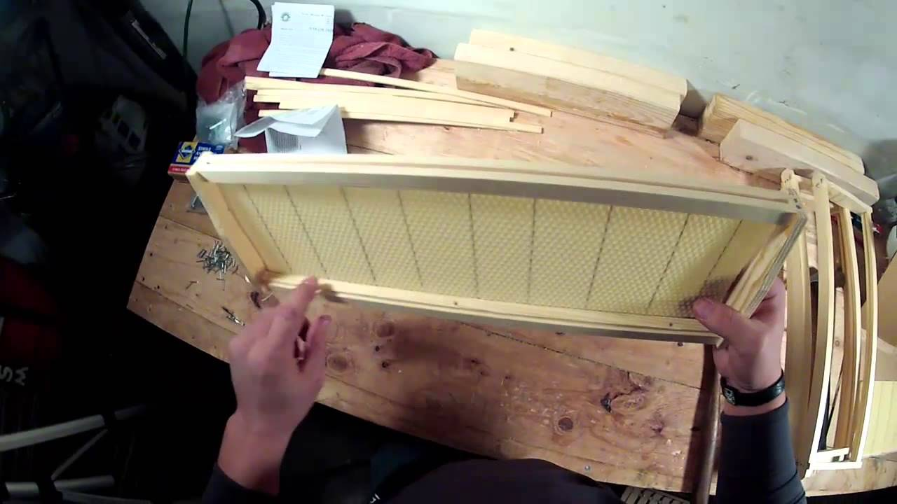how to install wax foundation into your beehive frames gopro