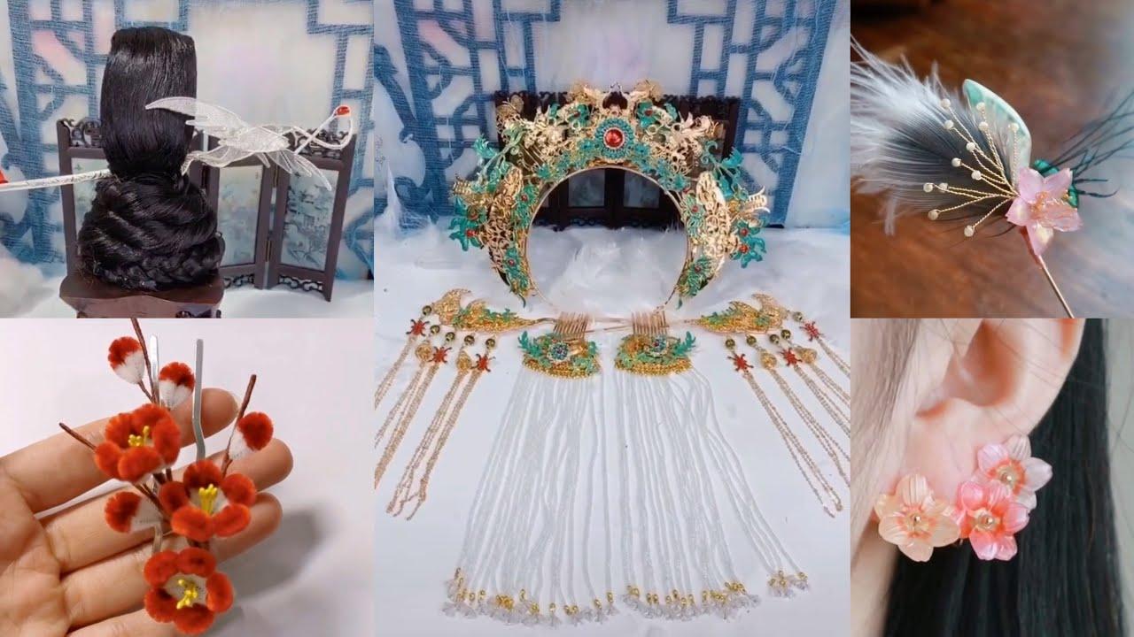 Hướng dẫn làm trang sức bông tai, trâm, kim quan cosplay cổ trang Trung Quốc 🇨🇳- Nhã Di Các