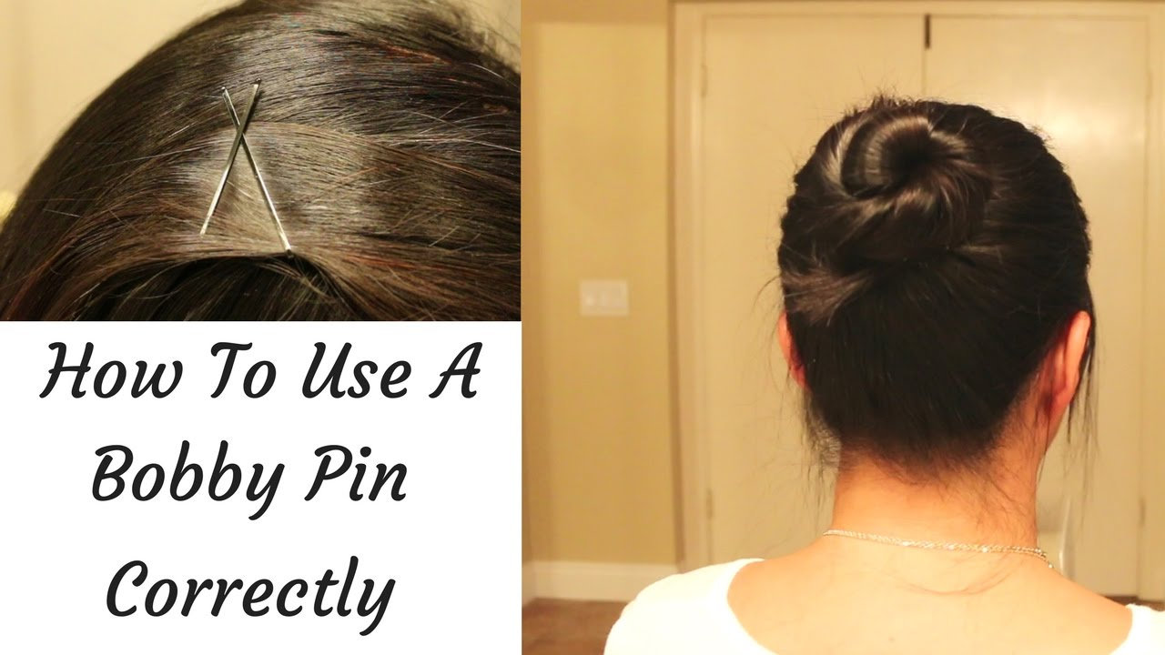 how to use a bobby pin correctly