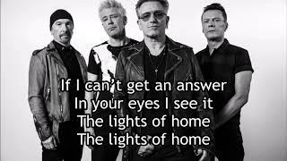 U2 - Lights Of Home (Lyric Video)