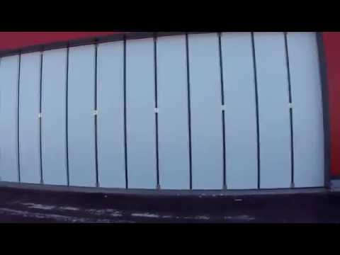 видео: Ангарные складные ворота