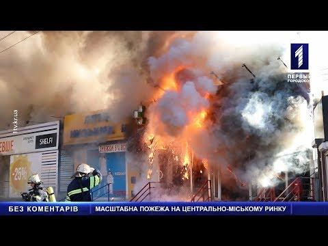 Масштабна пожежа на Центрально-Міському ринку