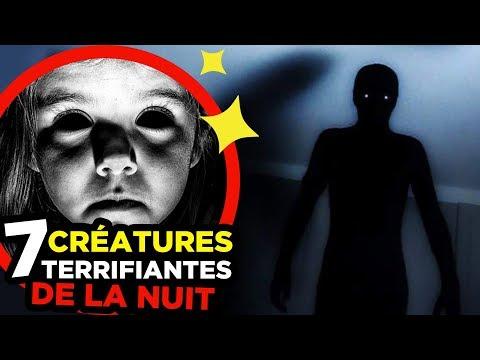 7 CRÉATURES TERRIFIANTES de la NUIT