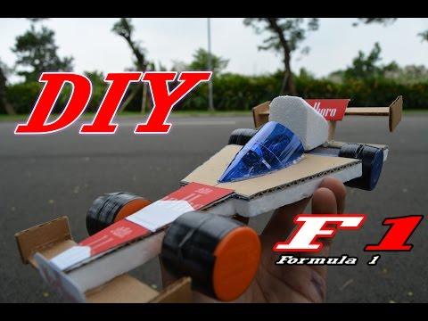 CARA MEMBUAT MOBIL F1 || Mainan anak murah