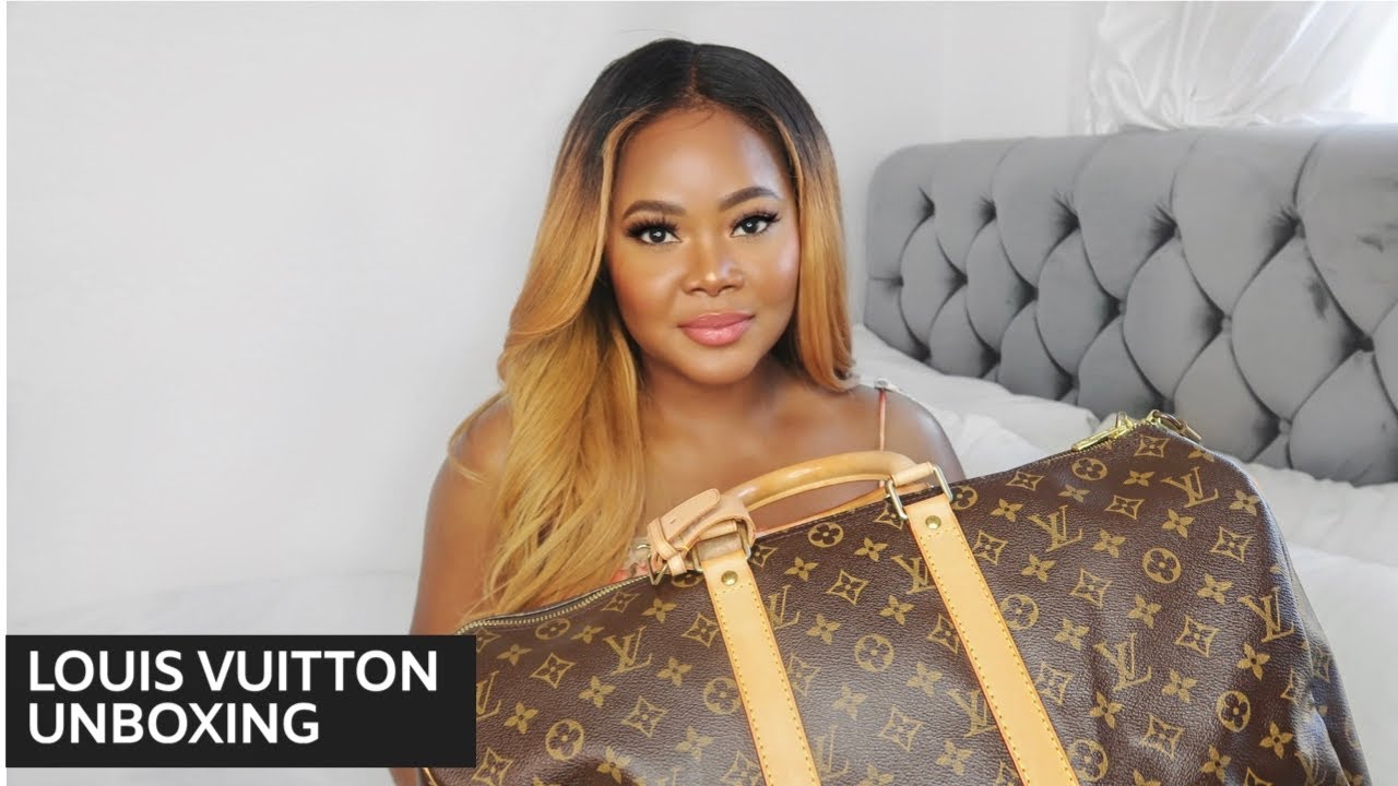 LOUIS VUITTON KEEPALL 45 UNBOXING | PRE LOVED | How to clean Louis Vuitton bags
